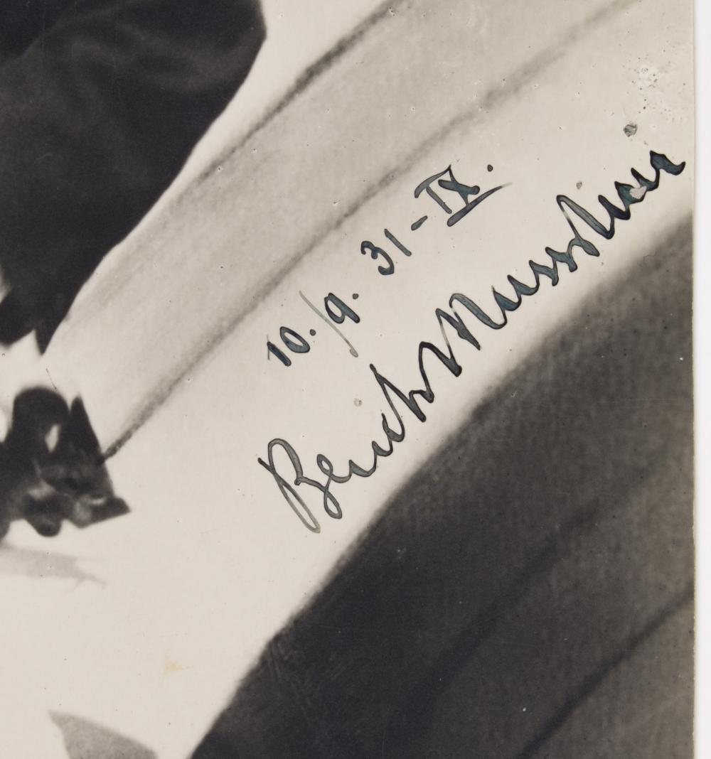 BENITO MUSSOLINI 'LOVE LETTER' AND SIGNED PHOTO