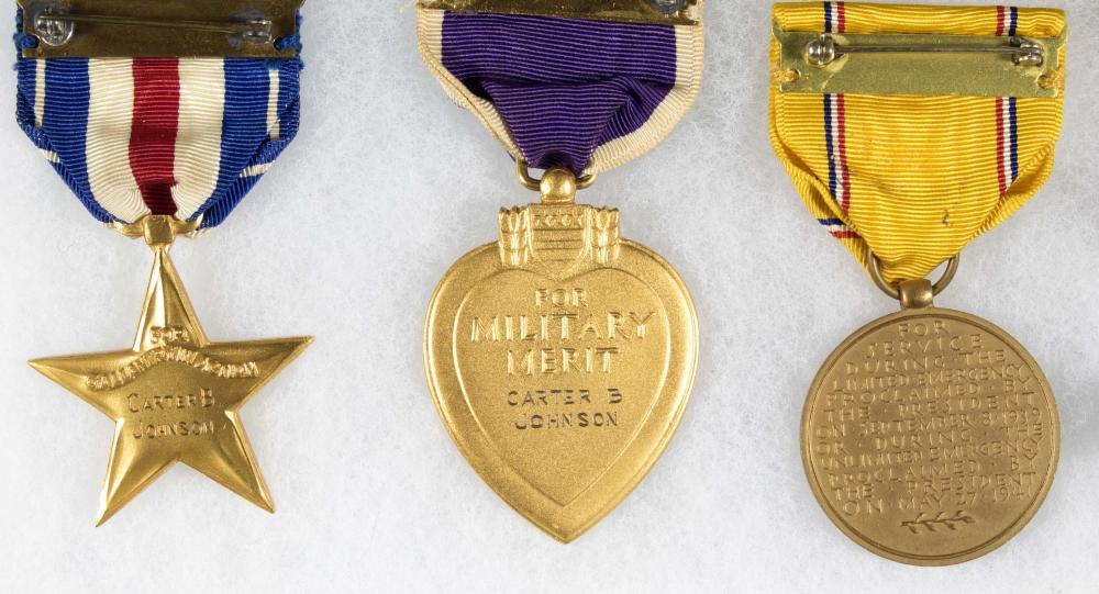 MEDAL GROUPING OF CAPT. CARTER B. JOHNSON, K.I.A IN NORTH AFRICA