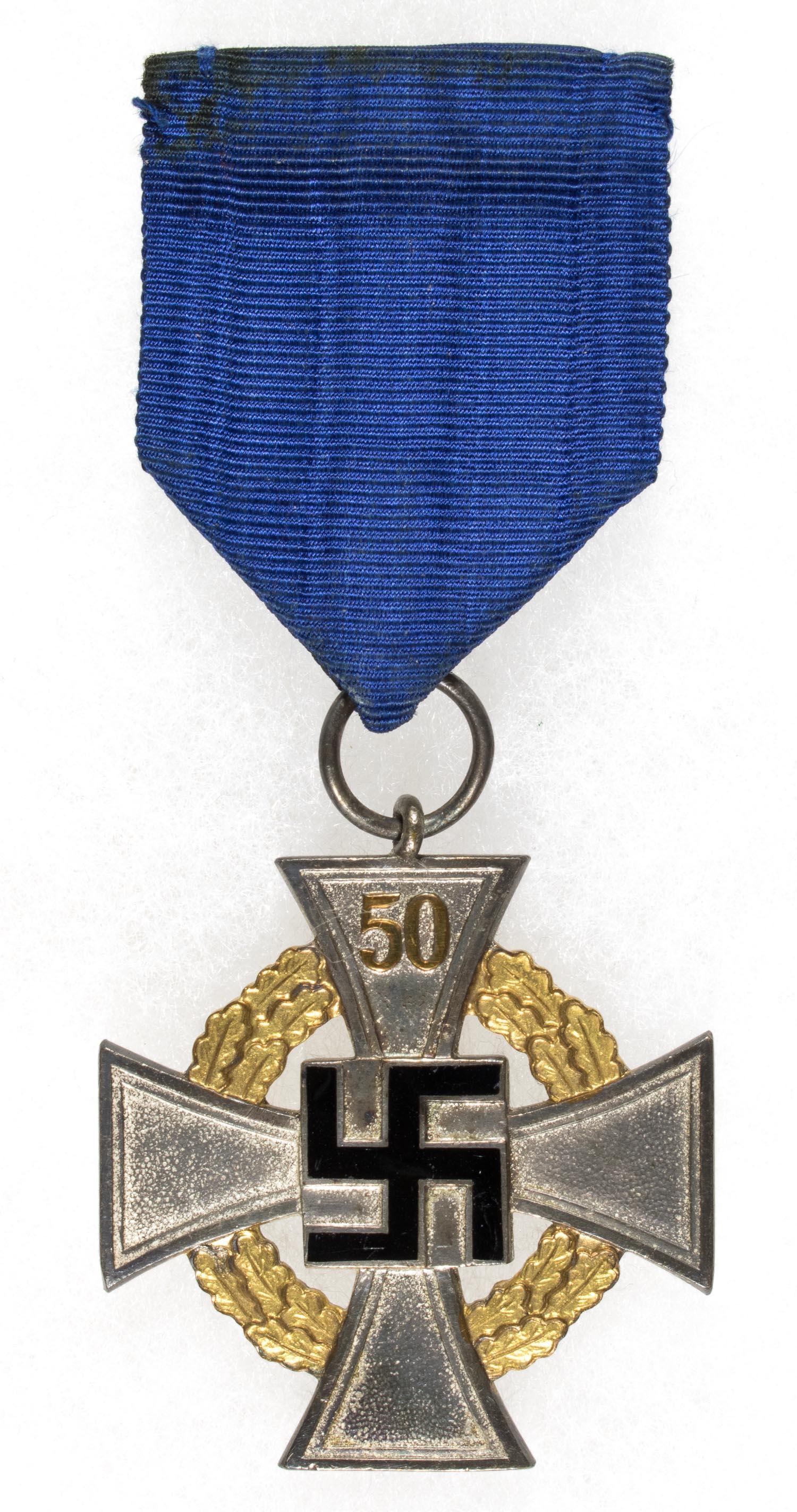 GERMAN 50 YEAR FAITHFUL SERVICE MEDAL