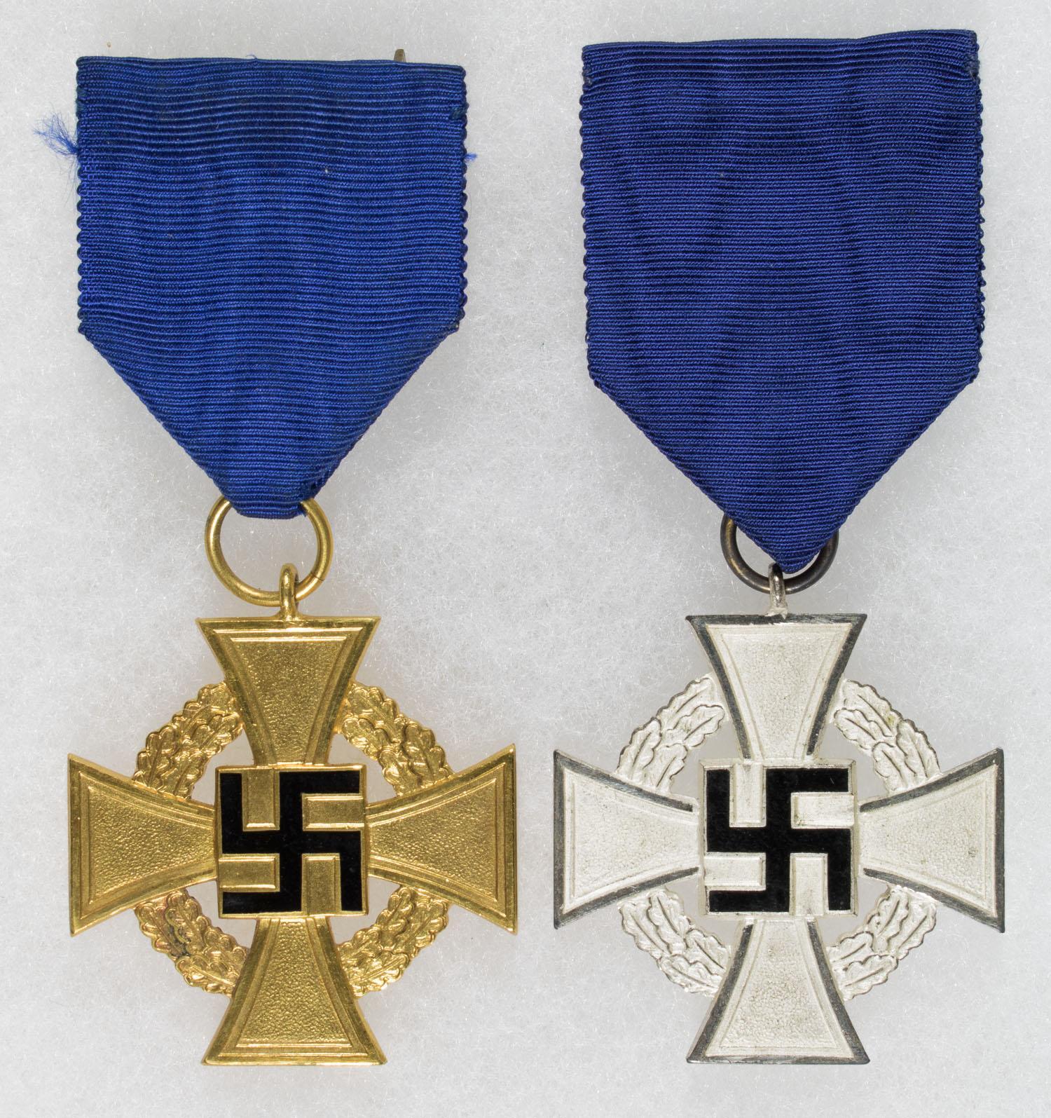 GERMAN FAITHFUL SERVICE MEDALS