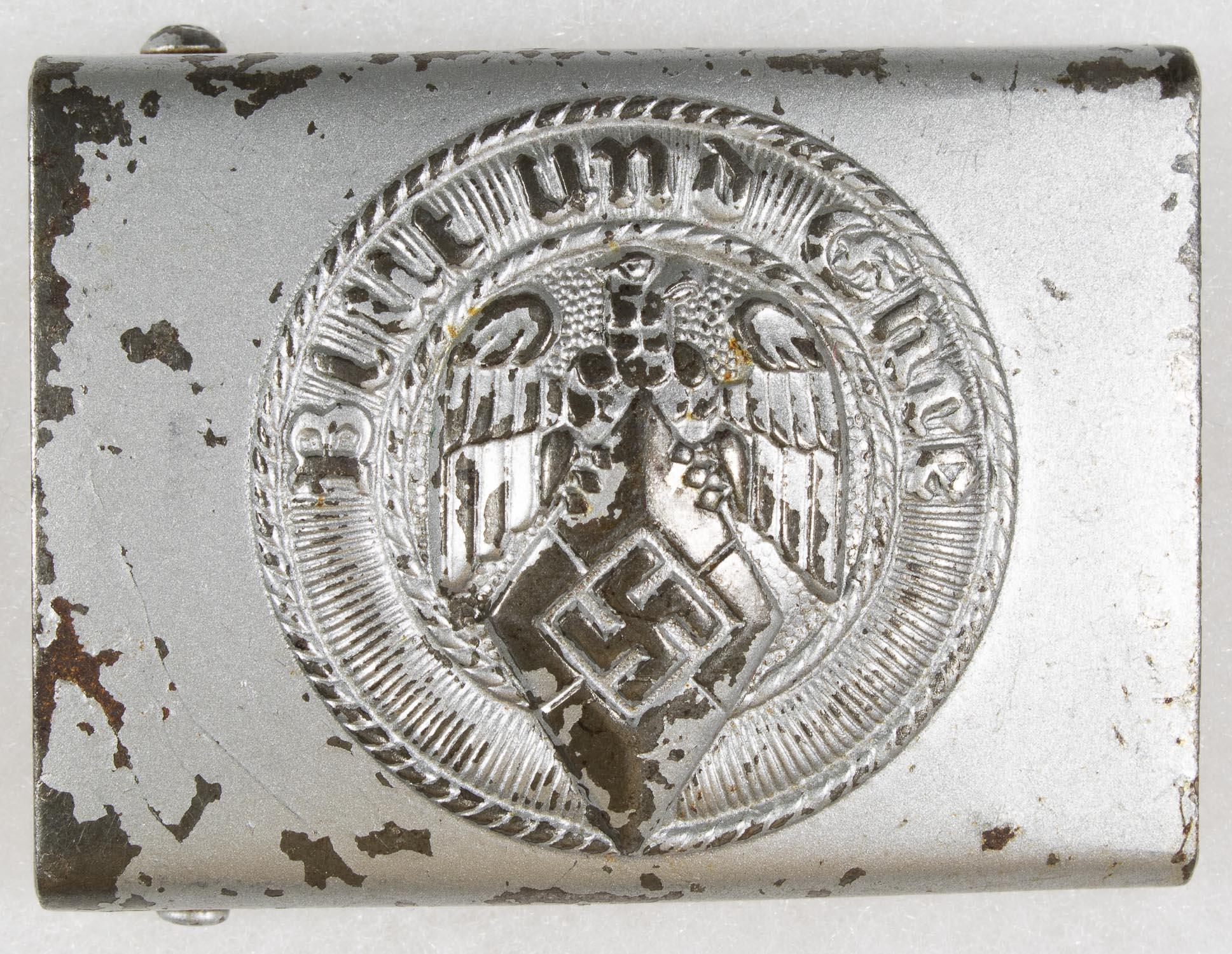 HITLER YOUTH BELT BUCKLE WITH TAG