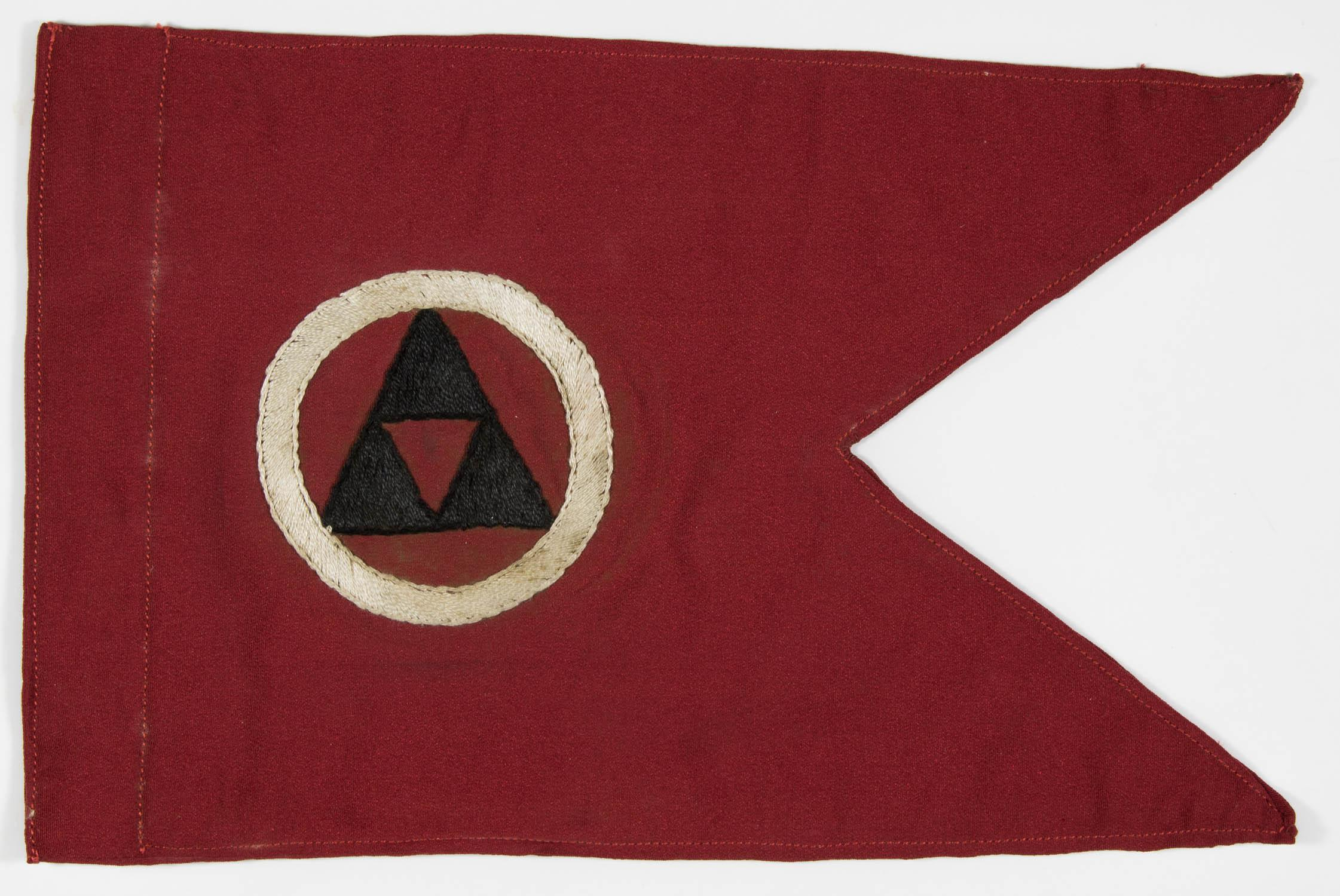 BERNARD LAW MONTGOMERY'S CAR PENNANT FROM THE B.E.F. AND DUNKIRK EVACUATION