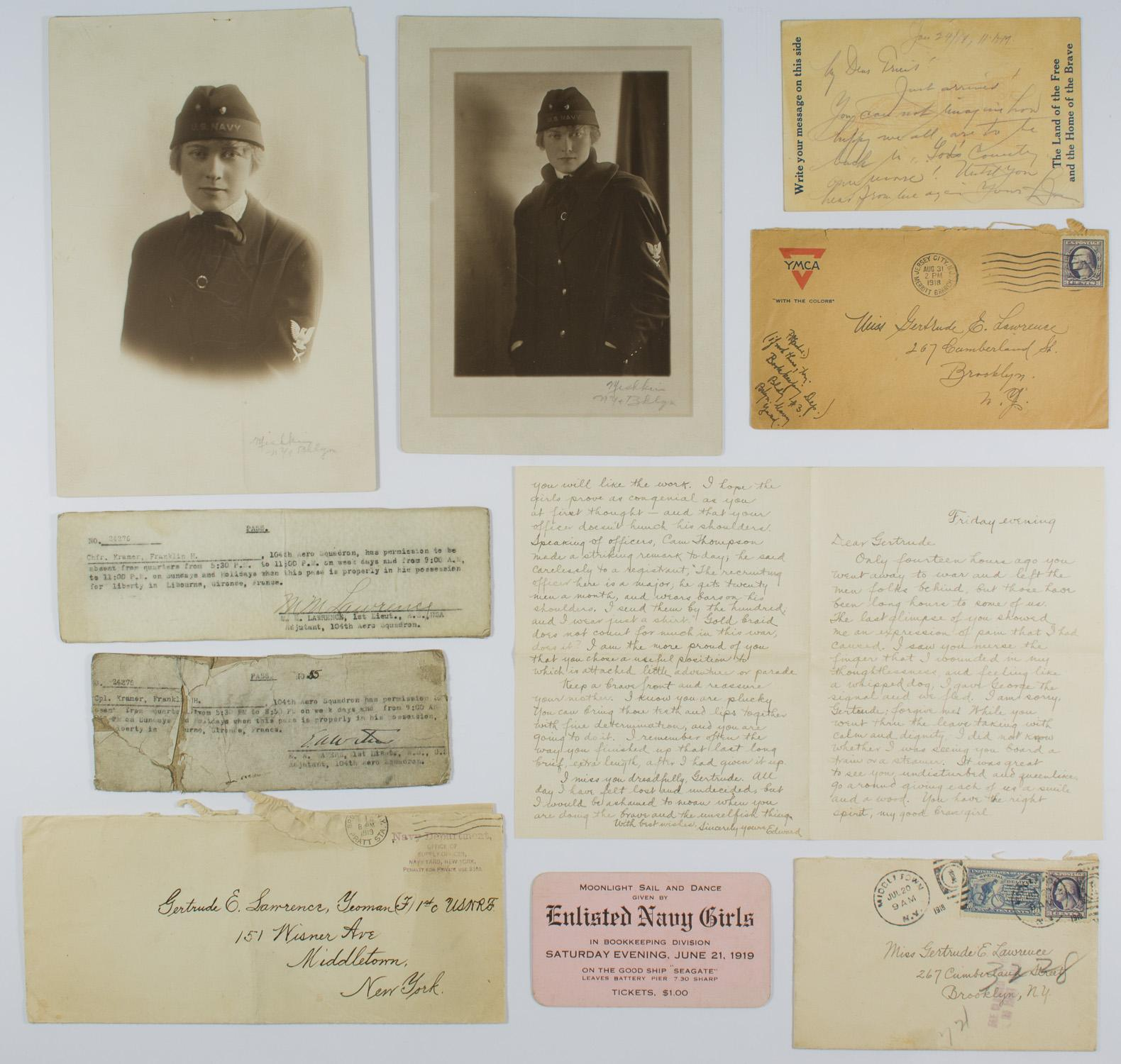 DOCUMENT GROUPING OF AN AMERICAN YEOMANETTE