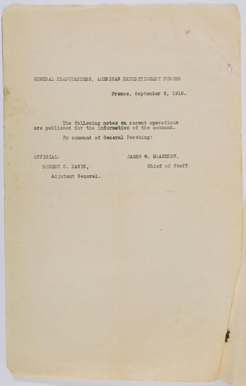 CONFIDENTIAL MEDICAL REPORTS AFTER THE BATTLE OF SOISSONS