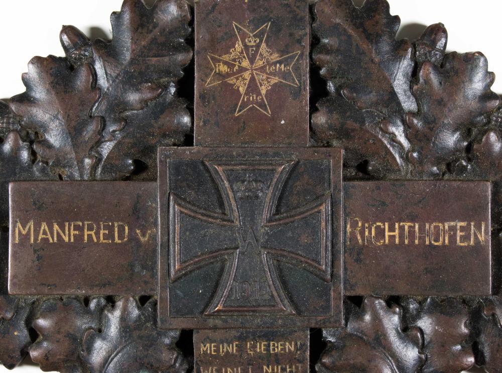 MANFRED VON RICHTHOFEN FAMILY-OWNED MEMORIAL PLAQUE