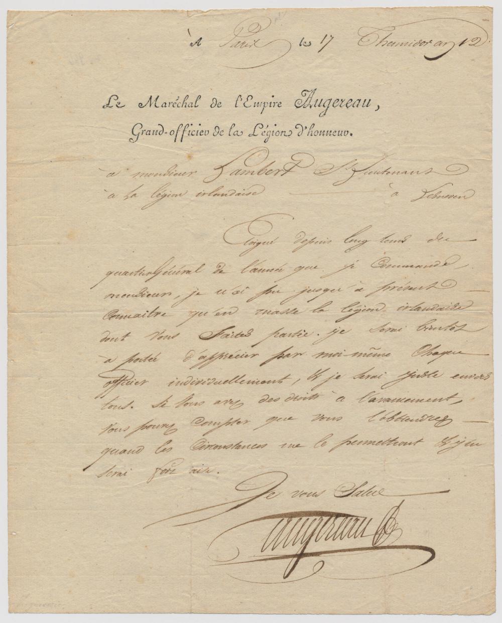 (NAPOLEONIC WARS) PIERRE FRANCOIS AUGEREAU