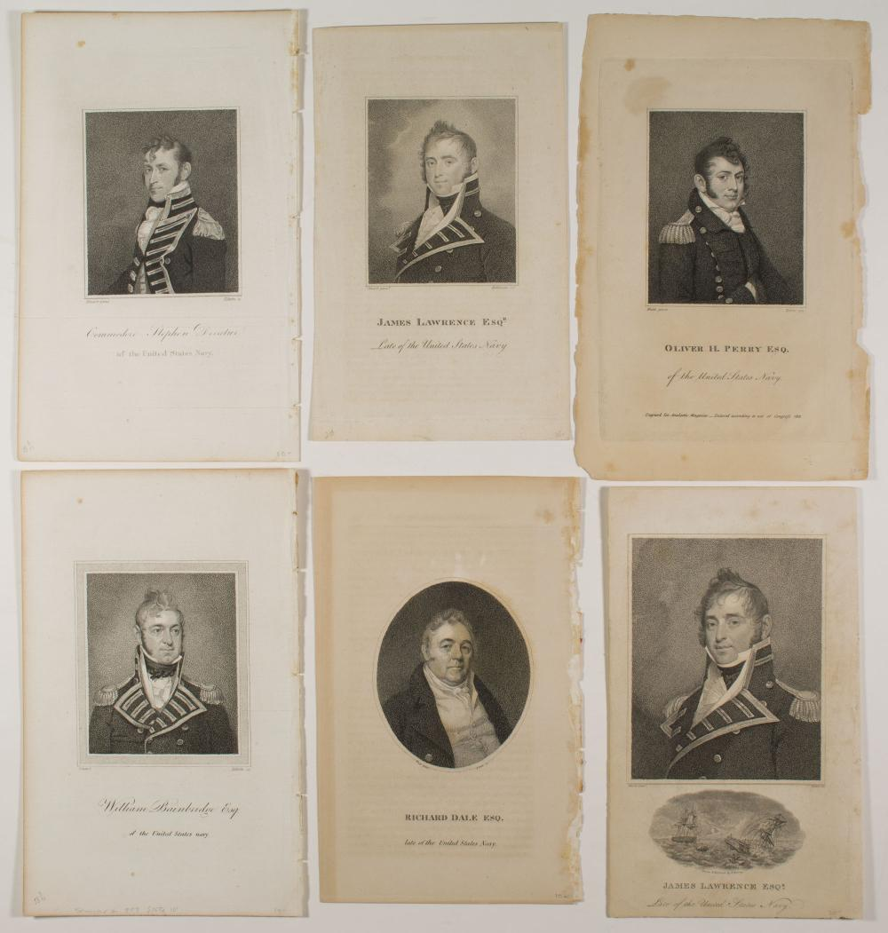 NAVAL OFFICERS ENGRAVED PORTRAITS (14)