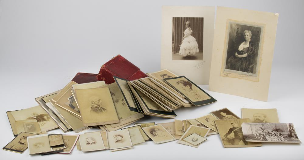 ANTIQUE CABINET CARD GROUPING