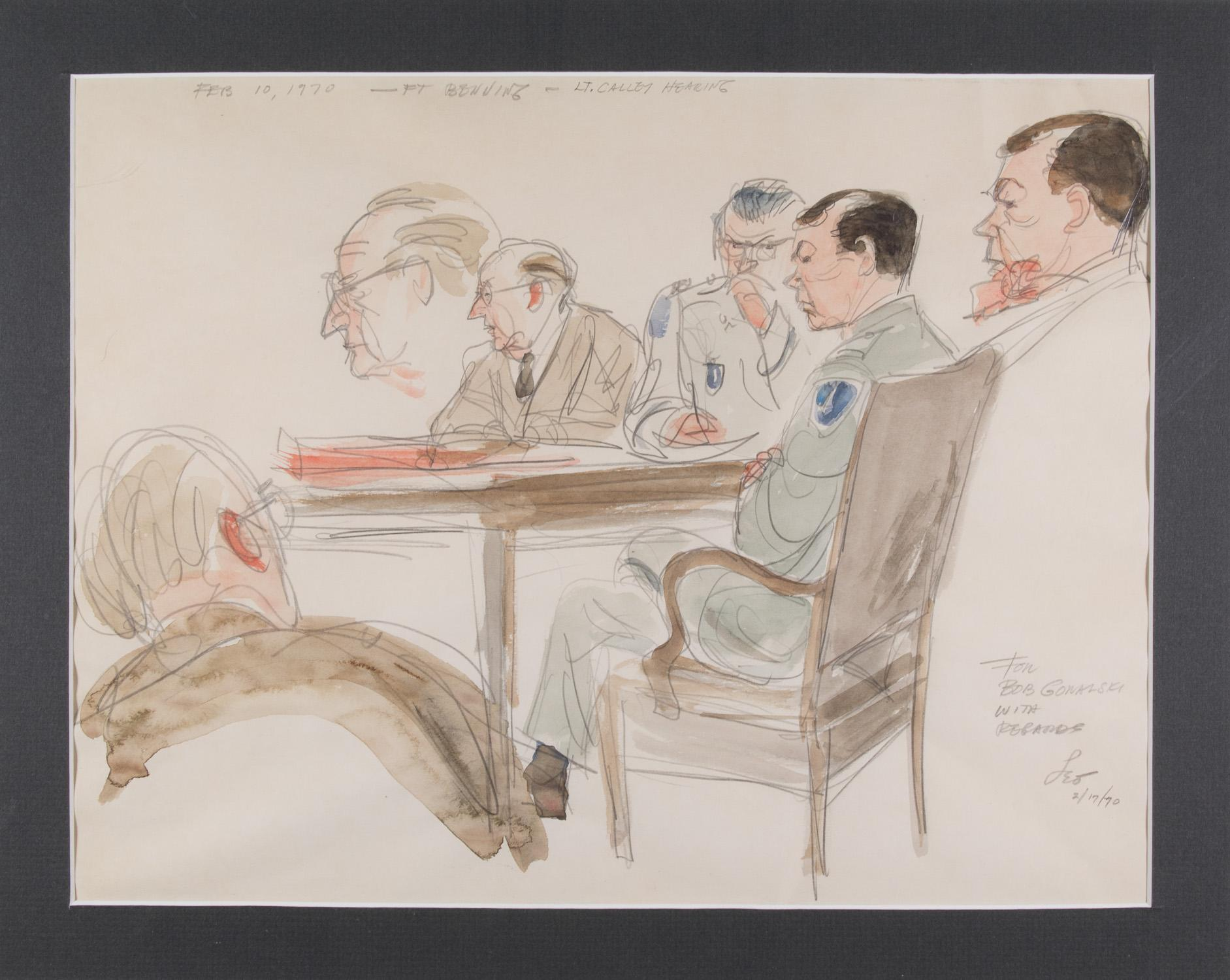 HERSHFIELD'S COURTROOM SKETCHES OF THE COURT-MARTIAL OF WILLIAM CALLEY, WAR CRIMINAL OF MY LAI MASSACRE