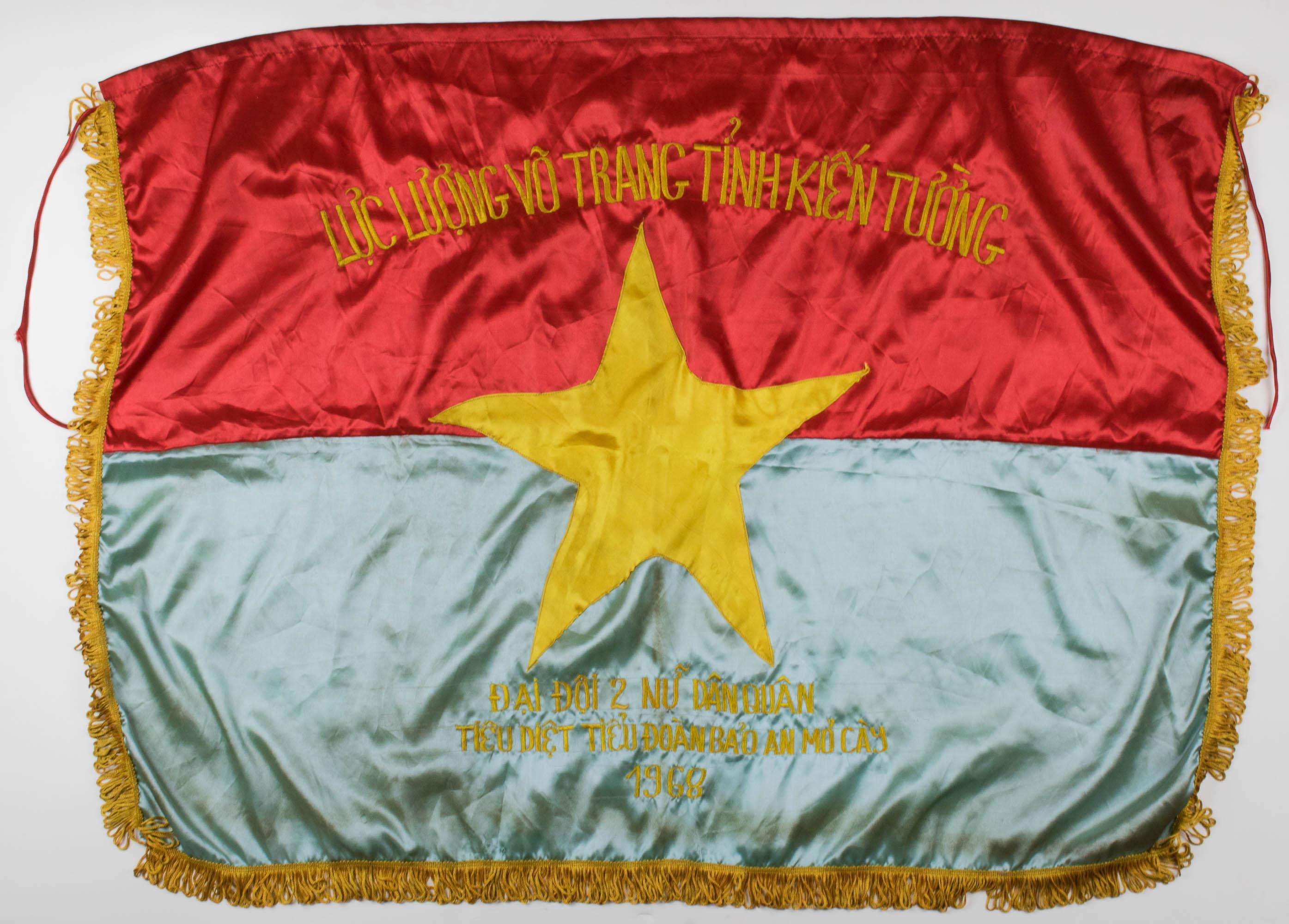 SOUTH VIETNAMESE FEMALE MILITIA BANNER