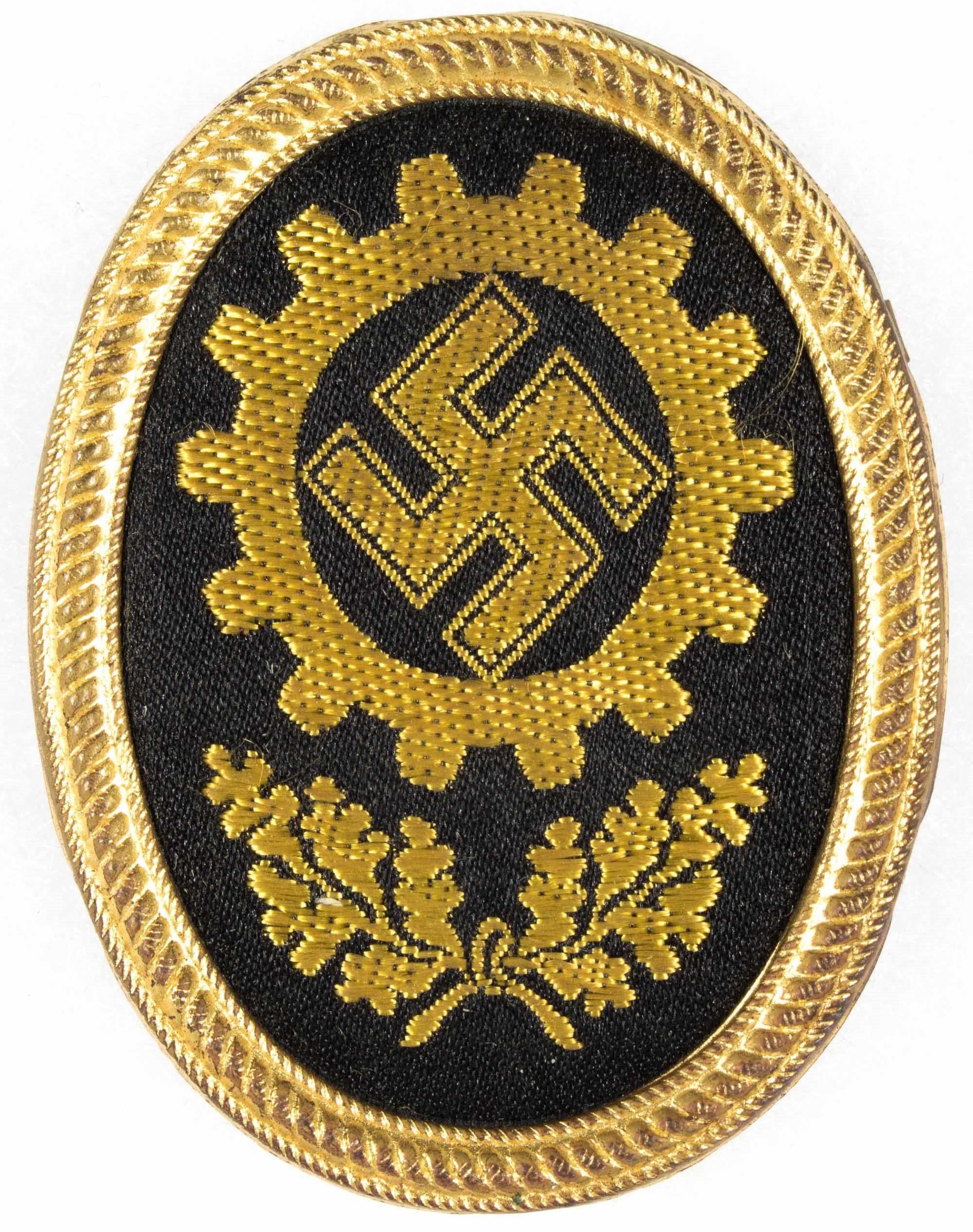 GERMAN LABOR FRONT HAT BADGE