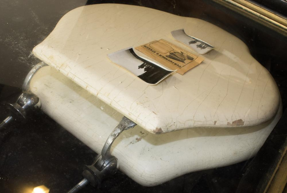 ADOLF HITLER'S TOILET SEAT 'CAPTURED' AT THE BERGHOF