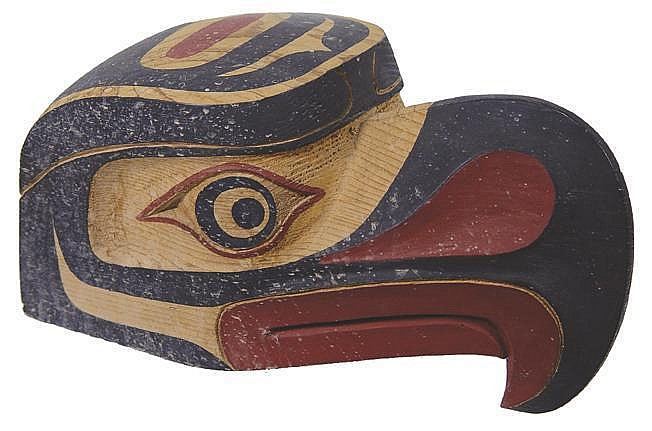 Northwest Coast Carved Wooden Eagle Mask