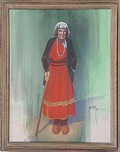Jane Mabry (b-1911) Original Pastel