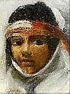 AUBRY Emile (1880/1964). Portrait de jeune fille