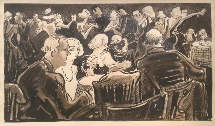 Thomas Hart Benton, untitled (night club scene), ca. 1937