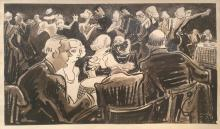 Thomas Hart Benton, untitled (night club scene), ca. 1937
