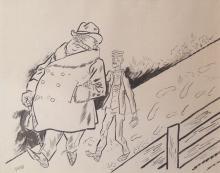 George Grosz, Walking Pair/Nude, ca. 1924