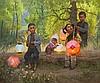 Jie-Wei Zhou | A Lantern Gathering, Jie-Wei Zhou, Click for value