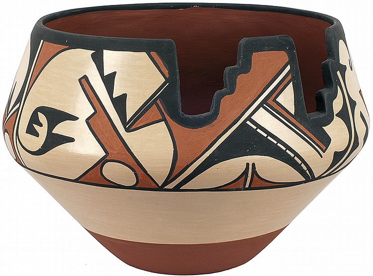 Carmelita Dunlap | Red and Black and White Pot