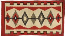 Navajo Rug with Diamond Design