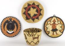 1 Navajo & 3 Hopi Baskets