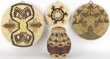 1 Cherokee & 3 Hopi Baskets