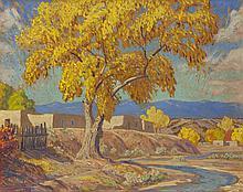 Sheldon Parsons | New Mexico Adobe in Landscape