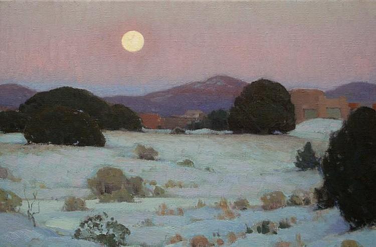 Glenn Dean: Moonrise over the Sangre De Cristos