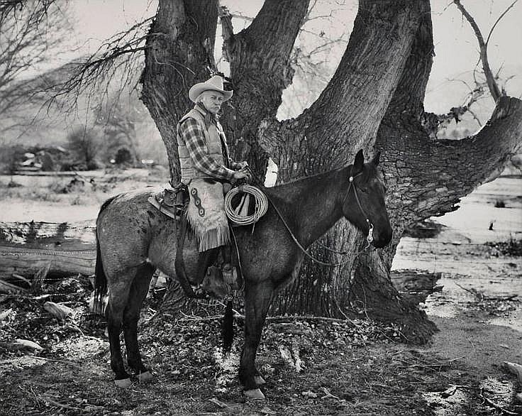Jay Dusard: Richard Farnsworth L Bar L Ranch, Arizona 1985