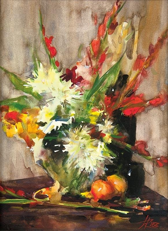 Bouquet with Fruit Still Life