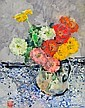 Zinnias In Glass Jar, Chi (1912) Chen, Click for value