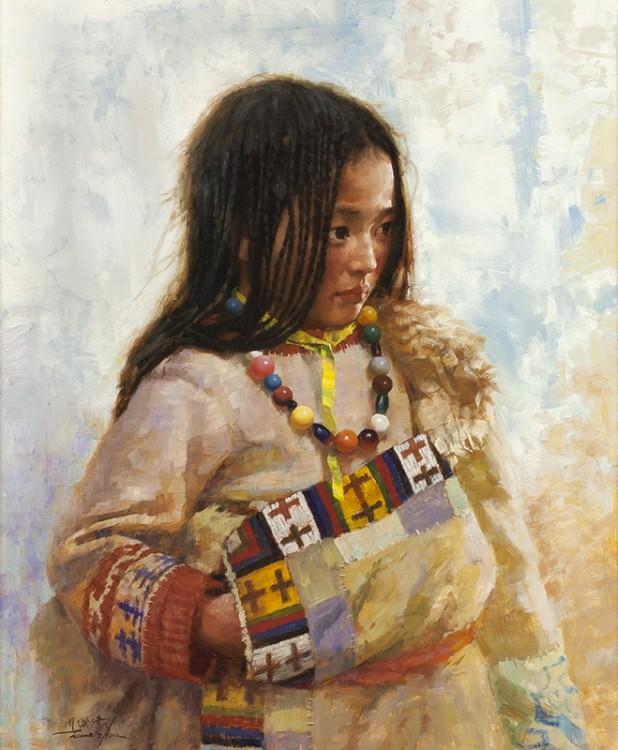 Jie-Wei Zhou | Tibetan Girl with Beads