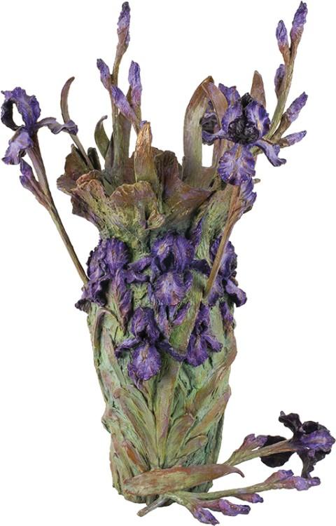 William Ravencroft Sharles | Fallen Iris Bouquet Vase