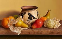 William Acheff | Santo Domingo with Pears and Oranges