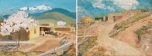 Sheldon Parsons | Adobe in Spring and Adobe Home N.M. - Lot of 2