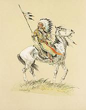 Olaf Wieghorst | Indian on Horseback