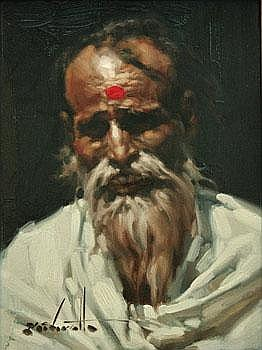 ClarenceMcGrath East Indian Man, Study 12 by 9