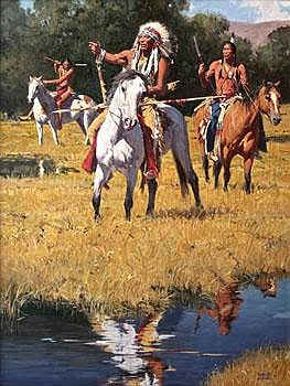 David Mann Tracks in the Meadow 40 by 30 inches