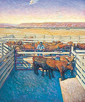HowardPost Holding Pen by the Barn 72 by 60