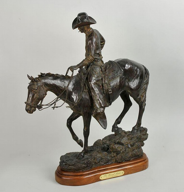 Bill Nebeker. b. 1942 CAA. The Bosal Man. Bronze.