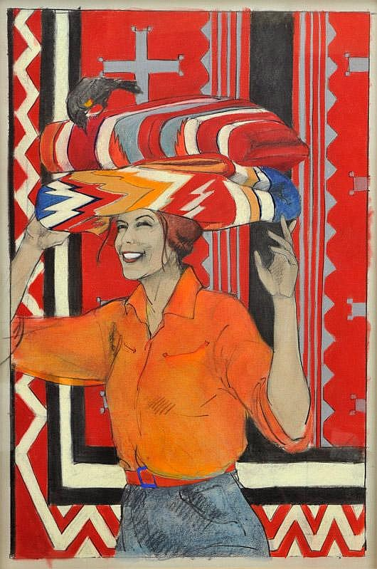 Donna Howell-Sickles. b. 1949. Blanket Balance.