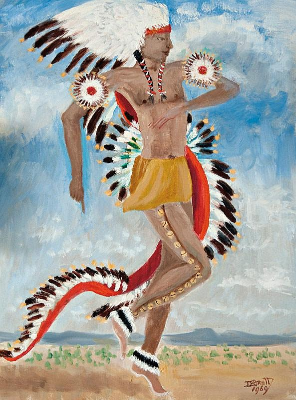 Dorothy Eugenie Brett. 1883 - 1976. Dancing Indian