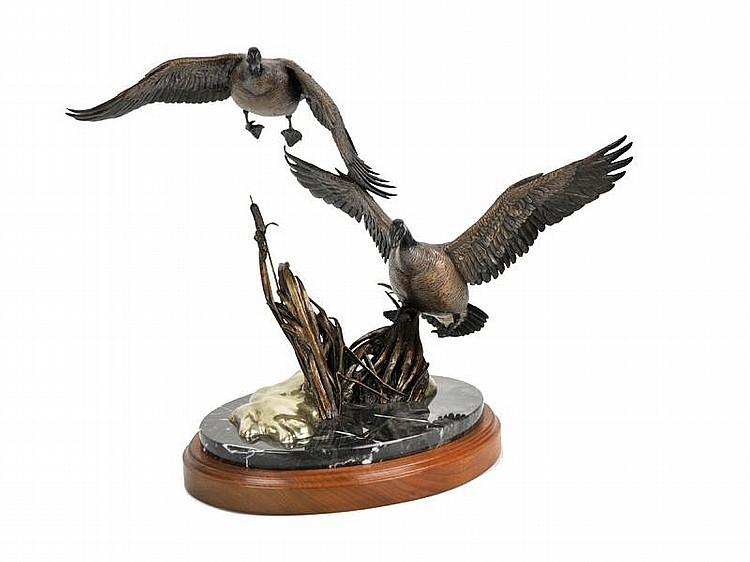 Frank Divita. b. 1949. Breaking Flight. Bronze, Ed