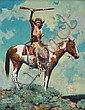 David Mann. b. 1948. Kiowa Signal. Oil on canvas ., David Mann, Click for value
