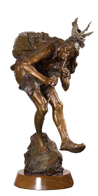 John Coleman. b. 1949 CAA. Kokopelli. Bronze. 23