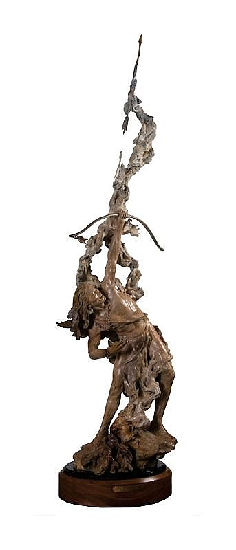 John Coleman. b. 1949 CAA. The Rainmaker. Bronze.