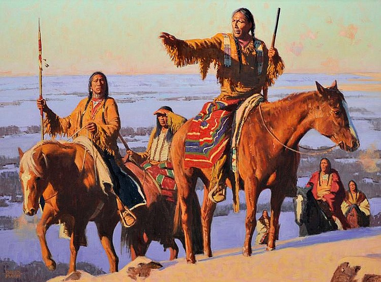David Mann. b. 1948. First Light. Oil on canvas .