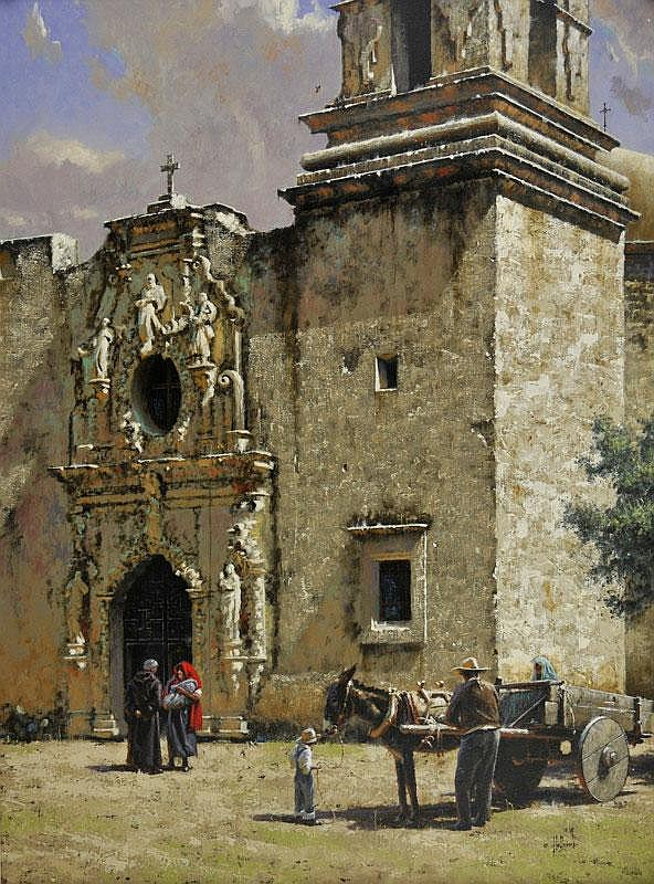 George Hallmark. b. 1949. Blessing of San Jose.