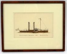 [Drawings] Raderstoomsleepboot Hellevoetsluis 1862